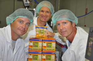 The Cookie Time team, left to right: General Manager Lincoln Booth, Director Michael Mayell, Director Guy Pope-Mayell