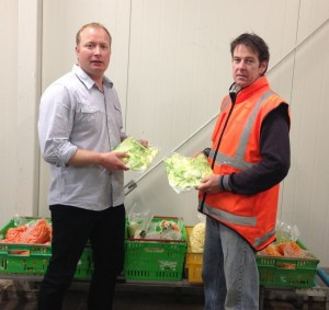 Fresh Link General Manager Stephen Dench (left) and Production Manager Kevin O'Sullivan make sure they deliver top quality produce to their food service customers by packing it in Convex modified atmosphere bags.